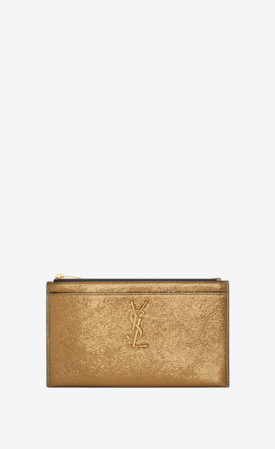 MONOGRAM bill pouch in metallic leather