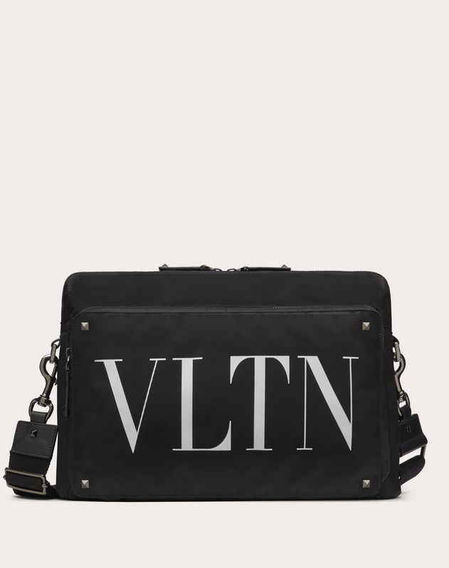 MESSENGER BAG VLTN AUS WATTIERTEM NYLON