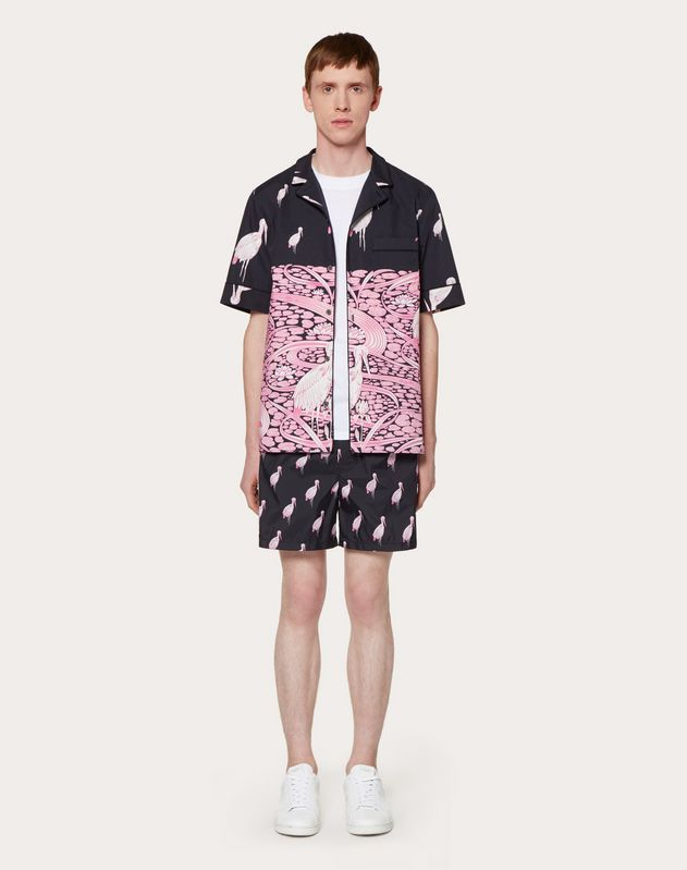 JAPANESE POND PRINT SWIMMING COSTUME