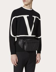 VLOGO CALFSKIN BELT BAG