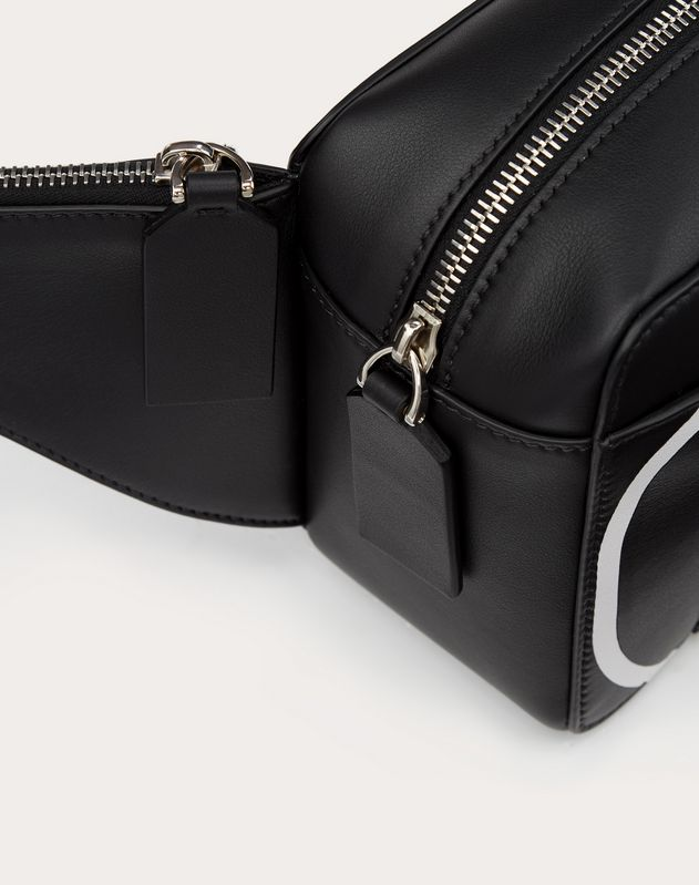 VLOGO CALFSKIN BELT BAG WITH INLAID LOGO