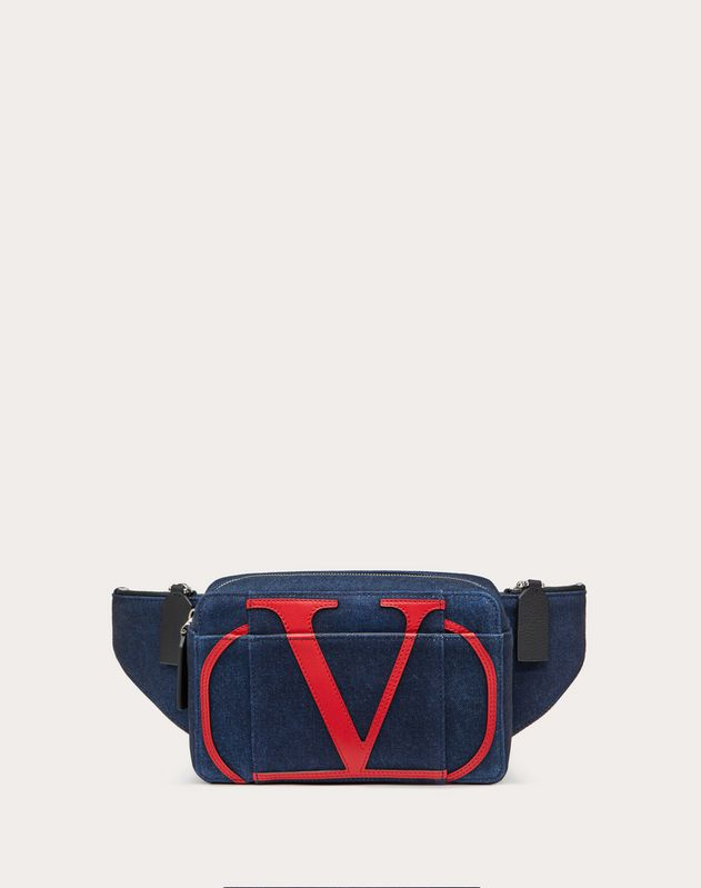 DENIM VLOGO BELT BAG