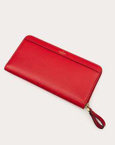 VLOGO Calfskin Zippered Wallet