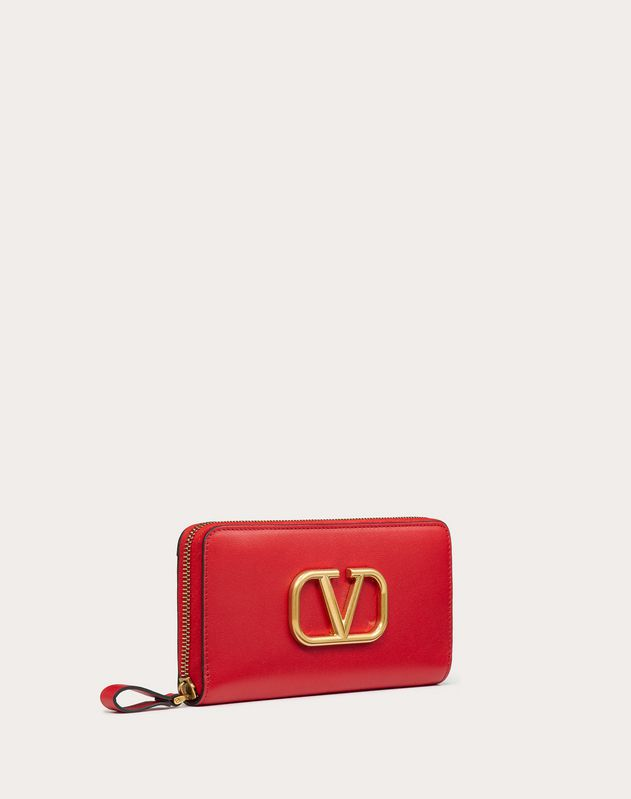 VLOGO Calfskin Zipped Wallet