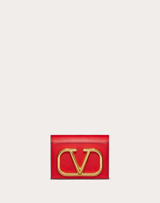 Small VLOGO Calfskin Wallet
