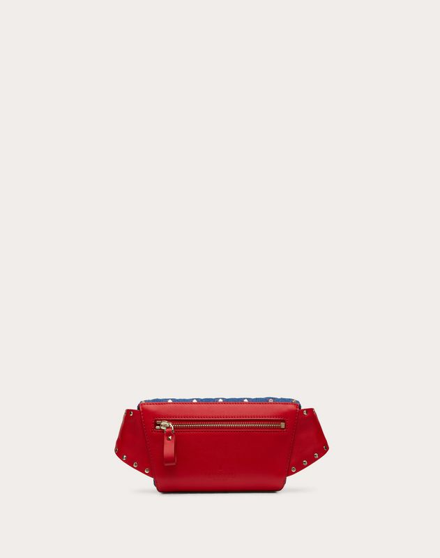 Rockstud Spike Denim Belt Bag
