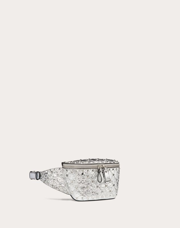 Rockstud Spike Metallic Nappa Leather Belt Bag