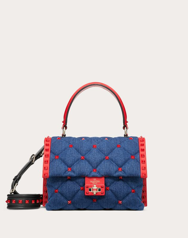 Candystud Denim Handbag