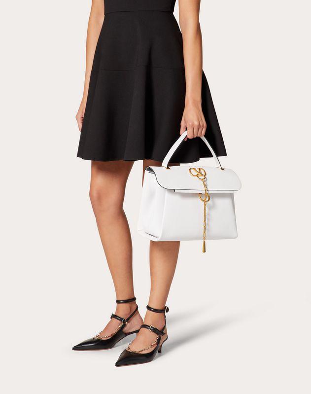 VCHAIN Grainy Calfskin Handbag