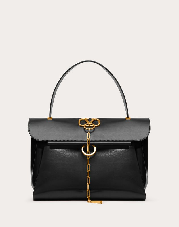 VCHAIN Smooth Calfskin Handbag