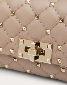 Rockstud Spike Nappa Leather Belt Bag