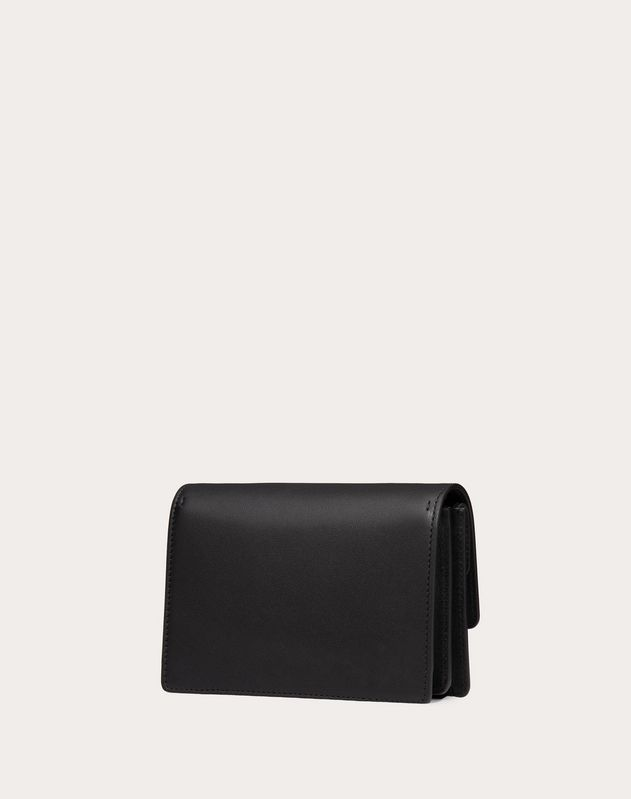 V-Ring Calfskin Pouch with Chain