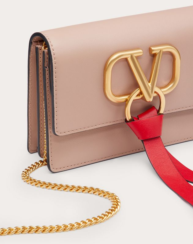 VRING CALFSKIN POUCH WITH CHAIN STRAP