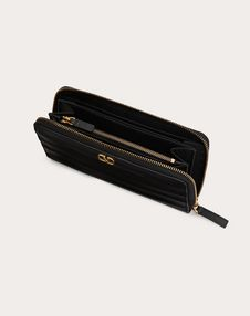 Diary Lines Calfskin Zippered Wallet