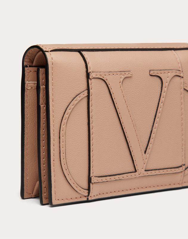 Small VLOGO Calfskin Wallet