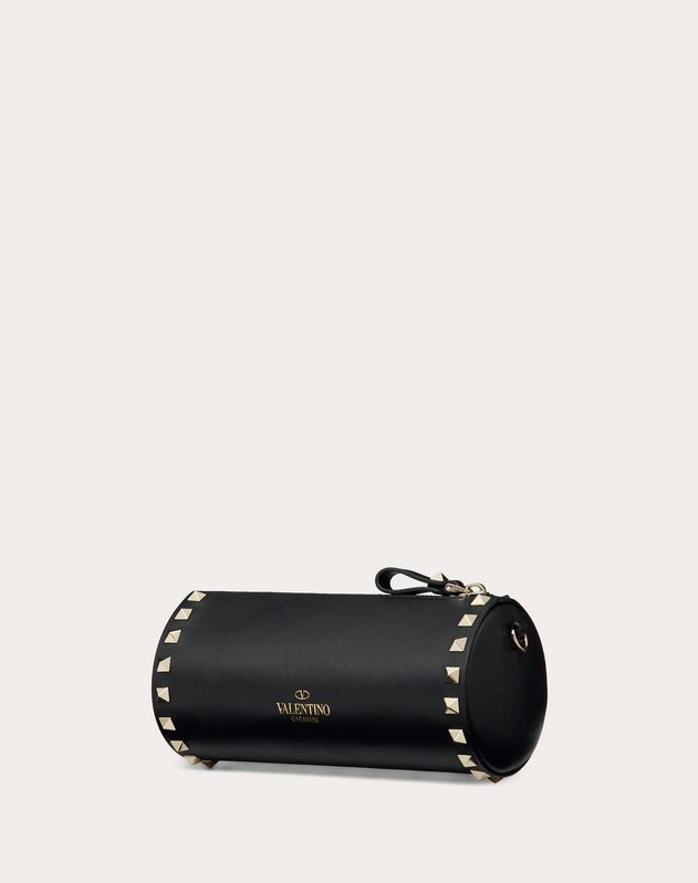 Rockstud Calfskin Pouch with Shoulder Strap