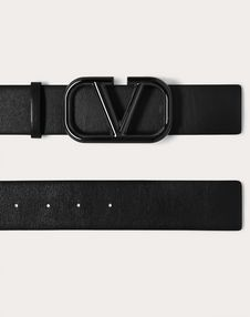 VLOGO Belt in Glossy Calfskin