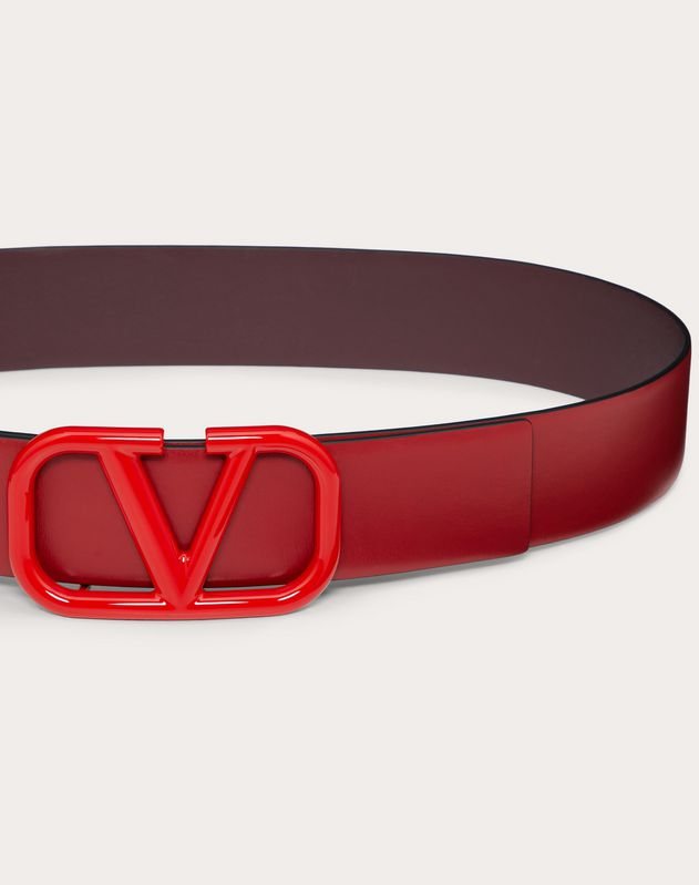 VLOGO Belt in Glossy Calfskin