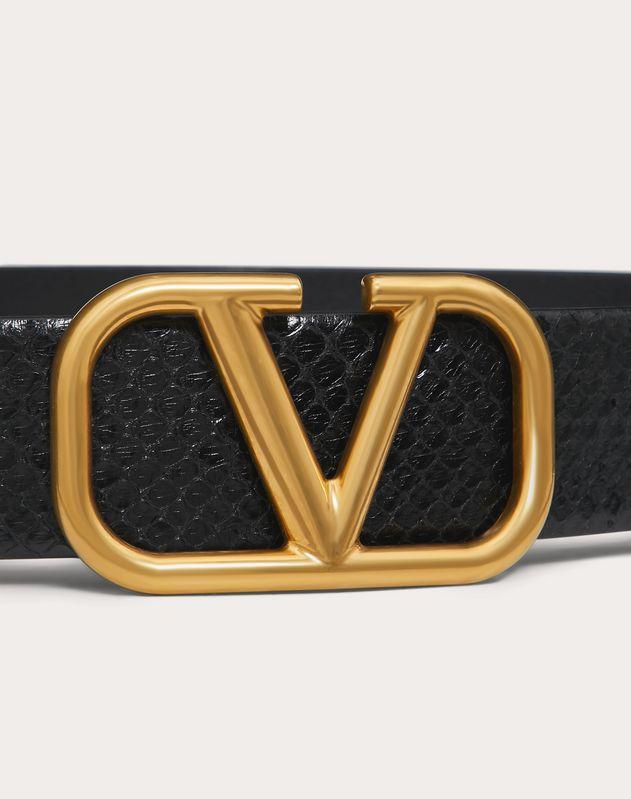 Cintura VLOGO in Pitone Semiopaco