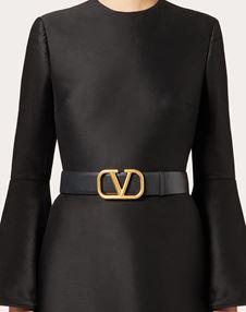Reversible VLOGO Belt in Glossy Calfskin
