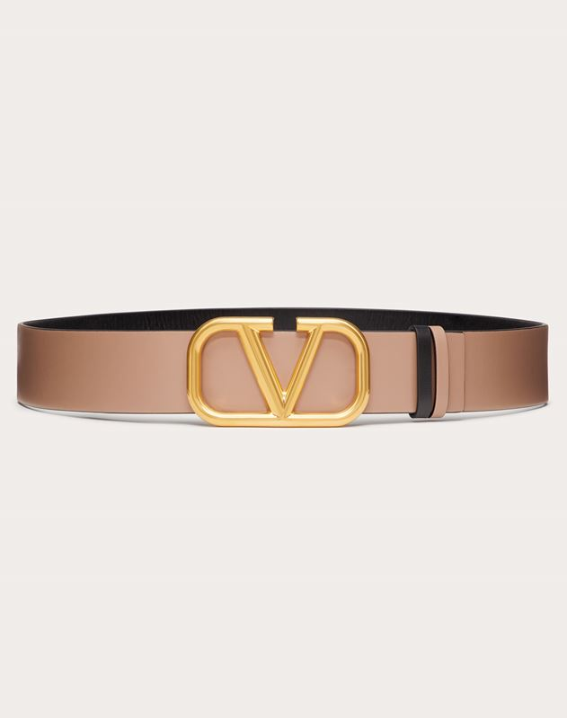 REVERSIBLE VLOGO BELT IN GLOSSY CALFSKIN 40 MM