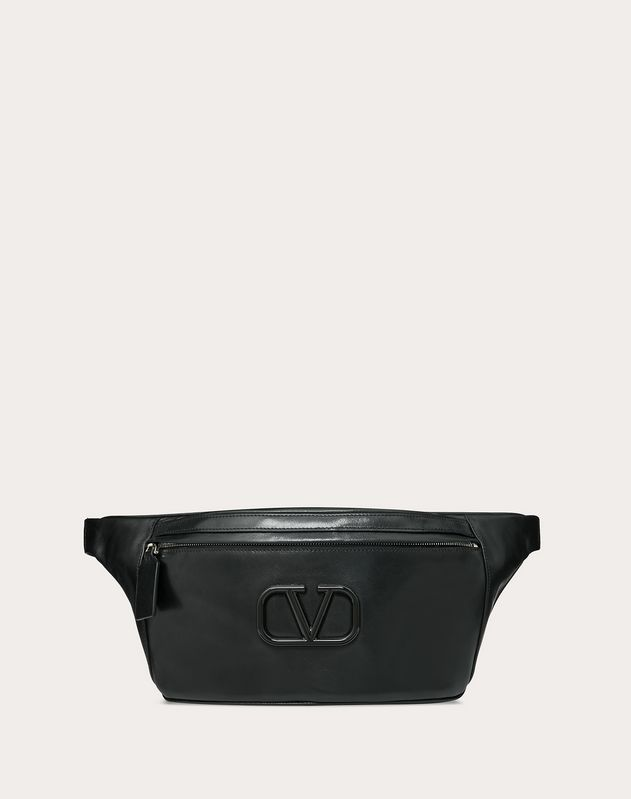 Leather VLOGO belt bag