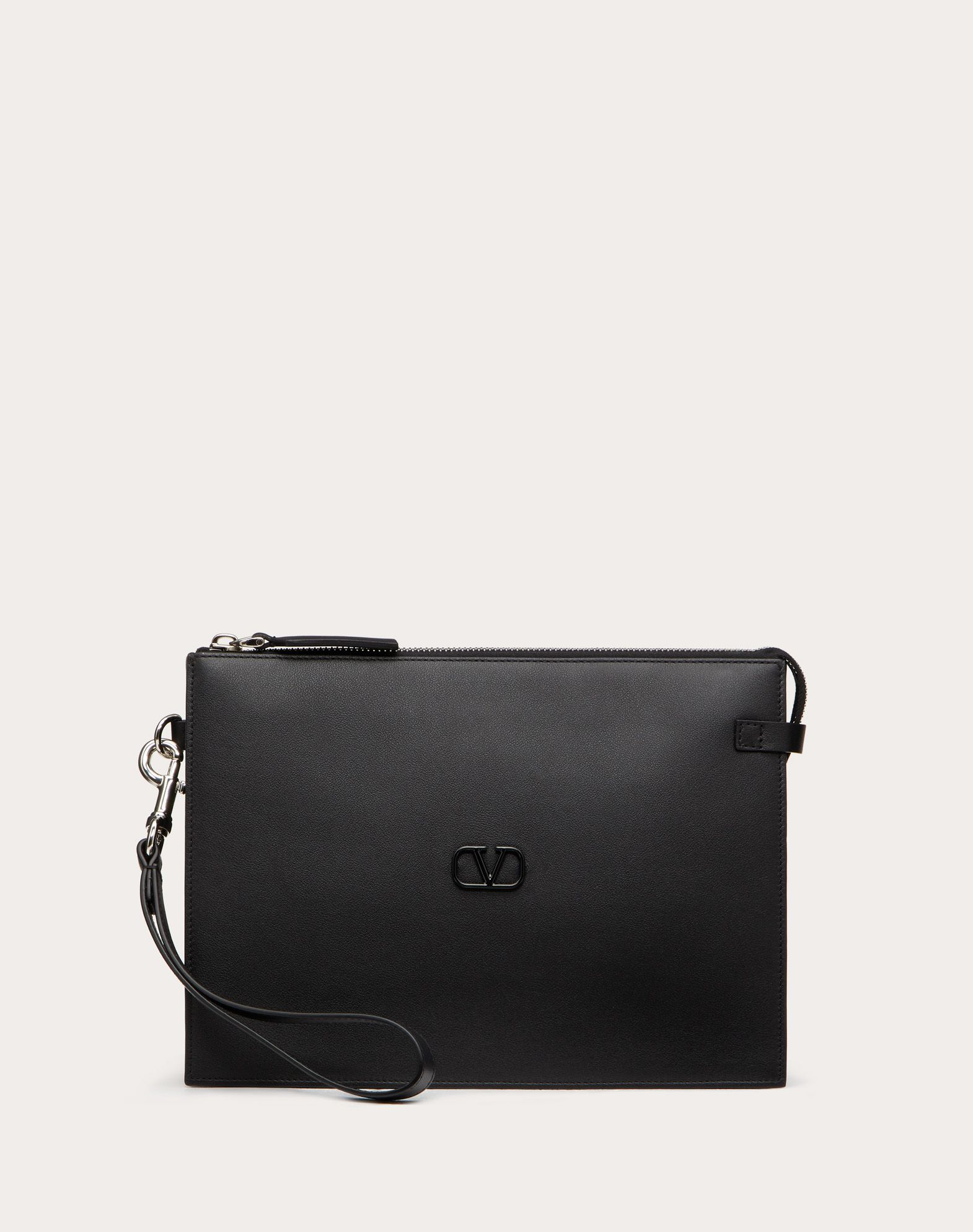 Leather VLOGO pouch