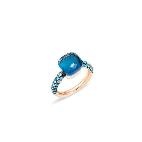 POMELLATO Bague Nudo Deep Blue A.B904 E f