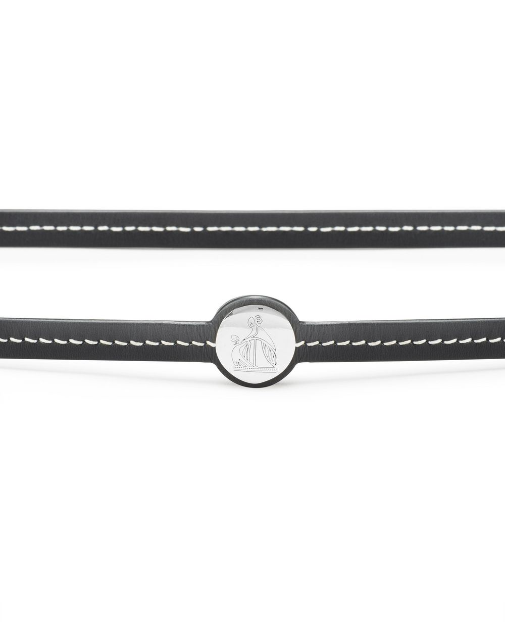 SLIM LEATHER BELT - Lanvin