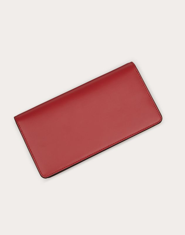 VSLING GLOSSY CALFSKIN WALLET WITH CHAIN STRAP