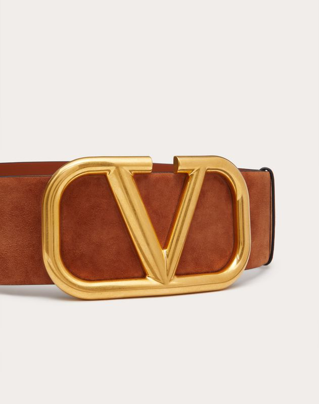 VLOGO SUEDE LEATHER BELT 70 MM