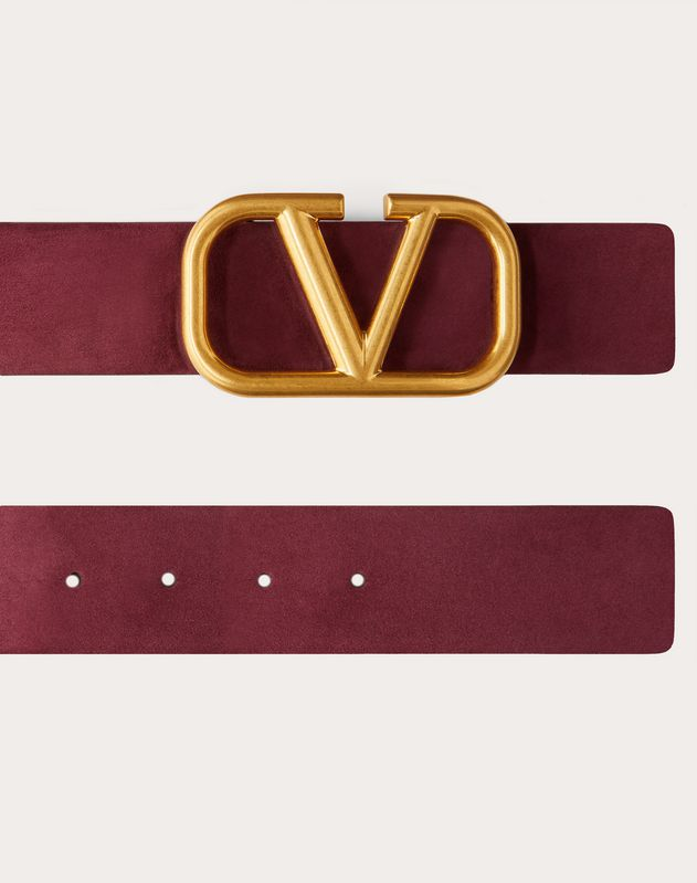 VLOGO SUEDE LEATHER BELT 40 MM