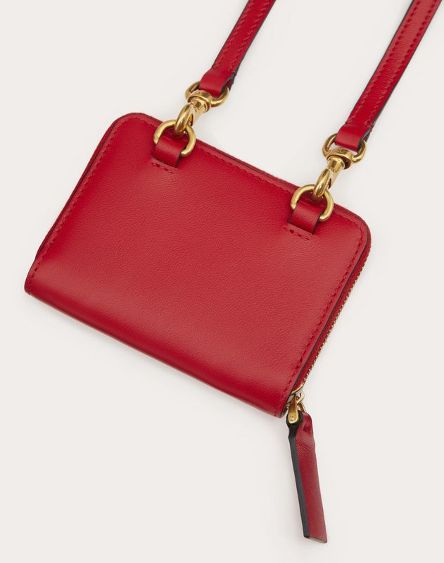 VALENTINO GARAVANI LOVE LAB Wallet with Neck Strap