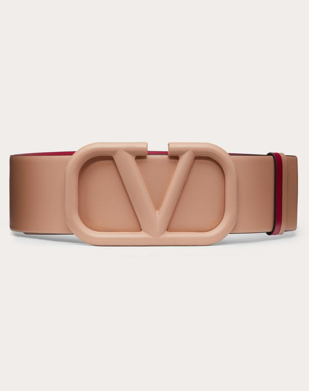 VLOGO REVERSIBLE BELT IN GLOSSY CALFSKIN 70 MM