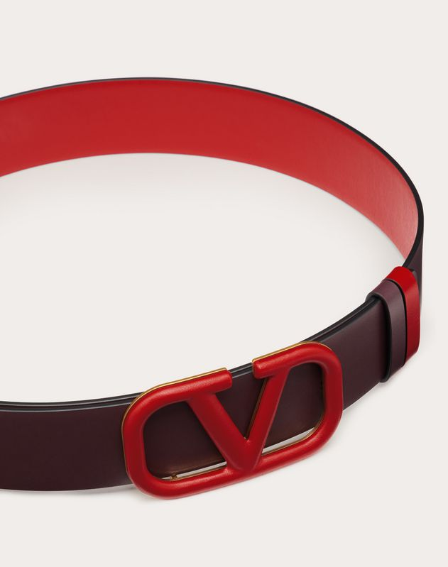 VLOGO REVERSIBLE BELT IN GLOSSY CALFSKIN 40 MM