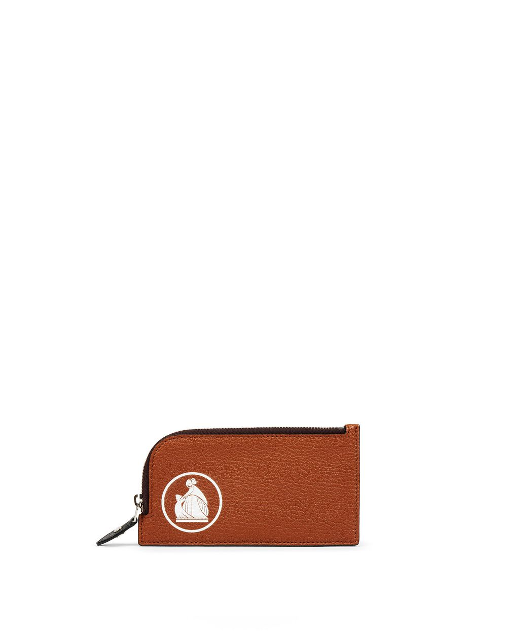 EARTH-COLORED ZIPPED CLUTCH - Lanvin