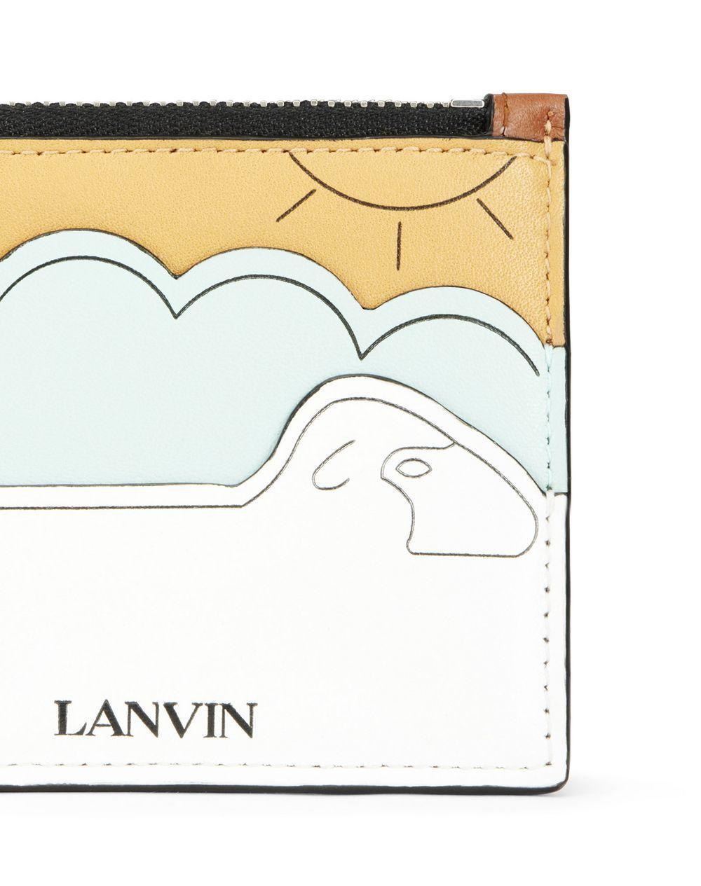 BABAR PRINT ZIPPED WALLET - Lanvin