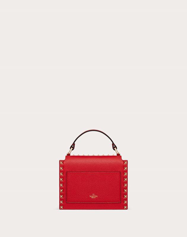 Rockstud Grainy Calfskin Handbag