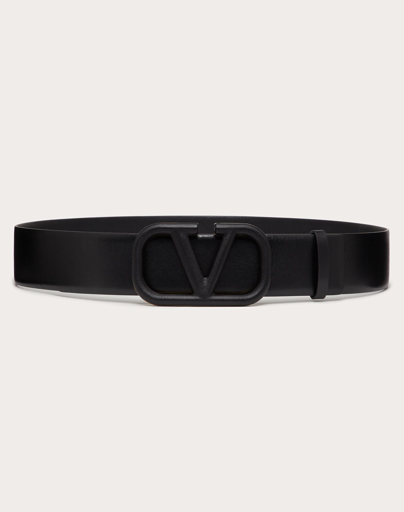 VLOGO BELT IN GLOSSY CALFSKIN 40 MM