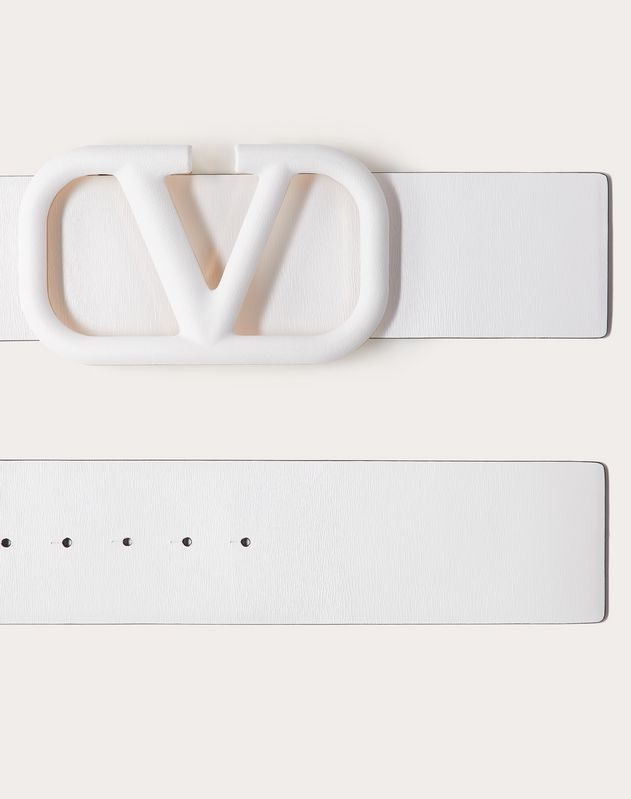VLOGO BELT IN GLOSSY CALFSKIN 70 MM