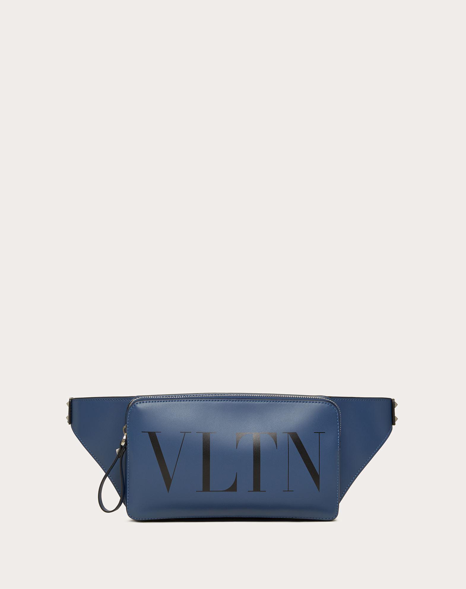 Valentino Garavani Uomo Vltn Leather Belt Bag In Indigo