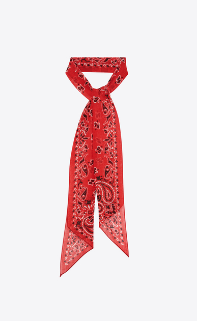 Lavallière tie in wool etamine with YSL bandana print