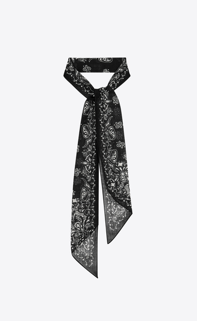 Lavallière tie in wool muslin with YSL bandana print