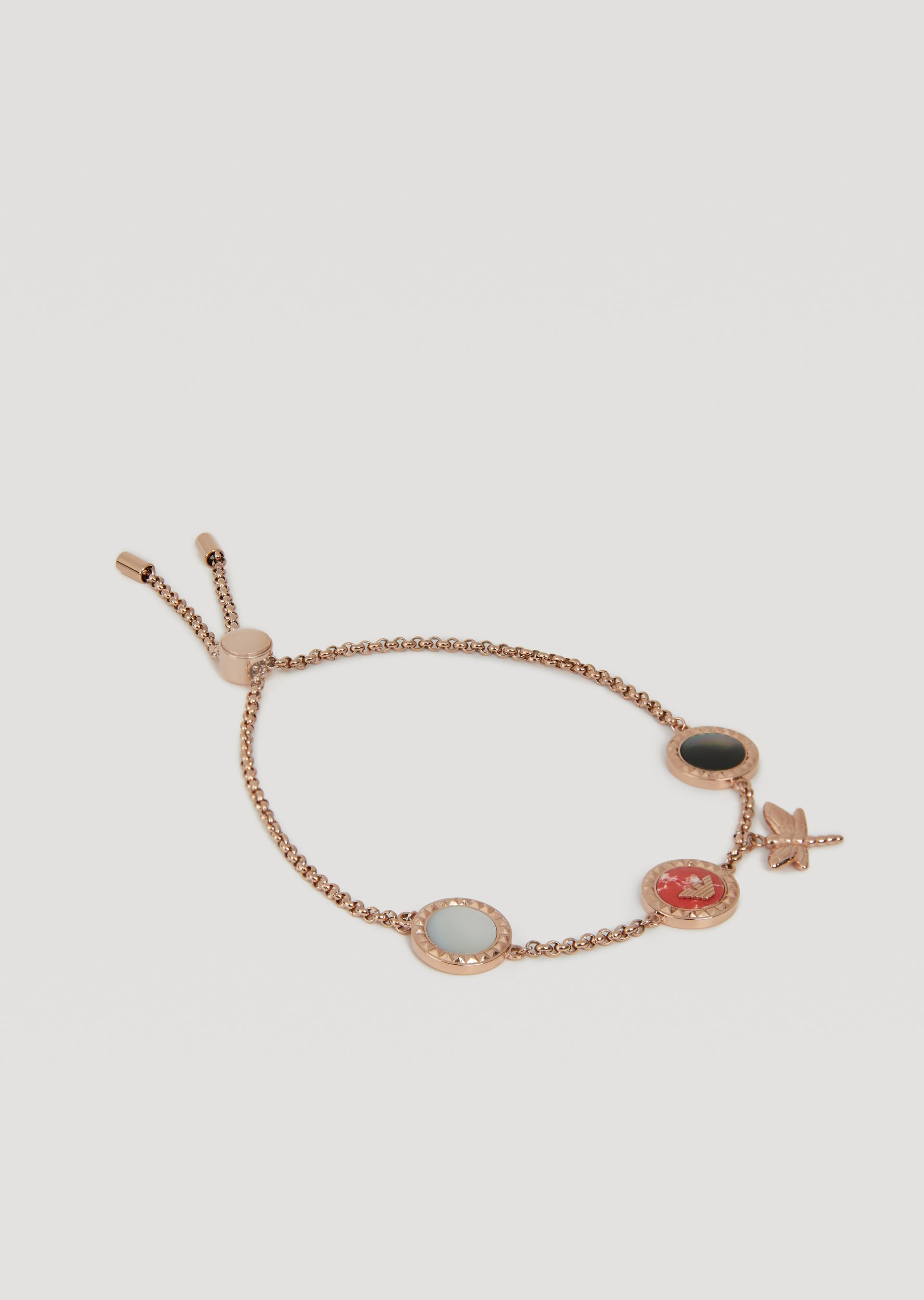 EMPORIO ARMANI Bracelet featuring enamel hoops with logo and pendant