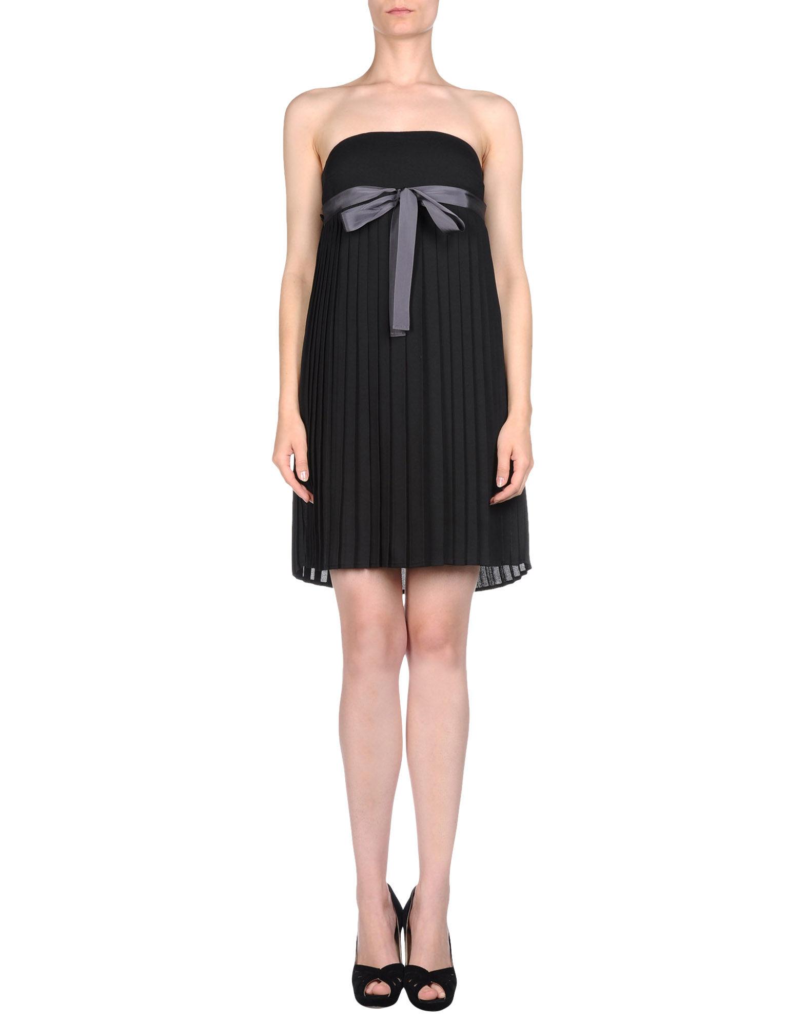 JUCCA Короткое платье прилегающее платье со складками monica прилегающее платье со складками
