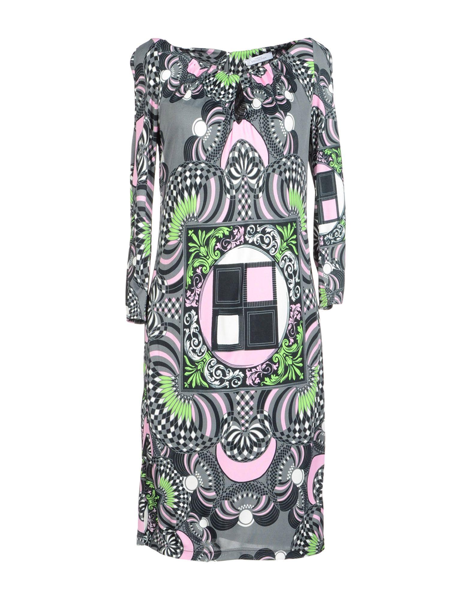 VERSACE COLLECTION Платье до колена футболка versace разноцветный