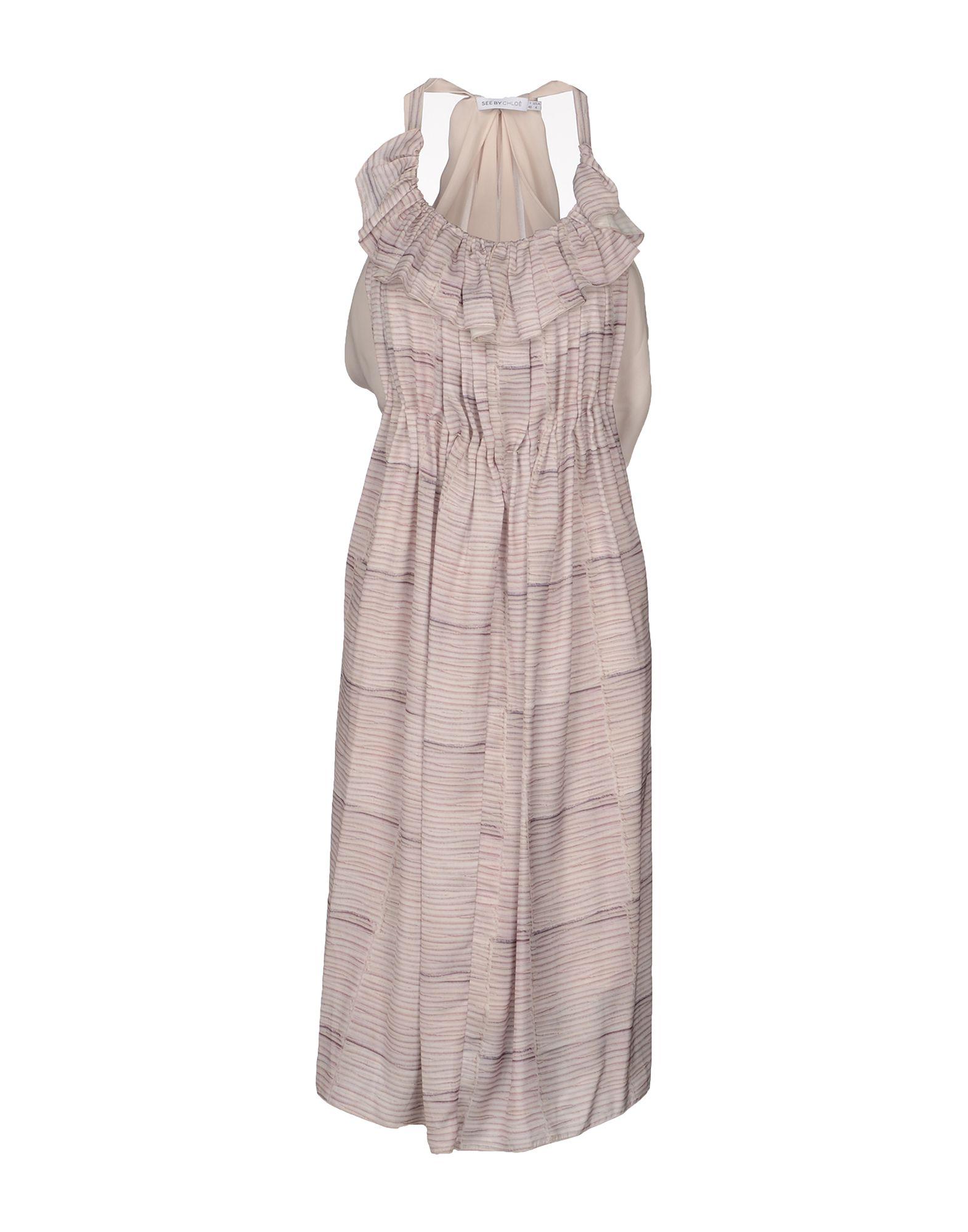 SEE BY CHLOÉ Платье до колена see by chloé шерстяное платье в полоску