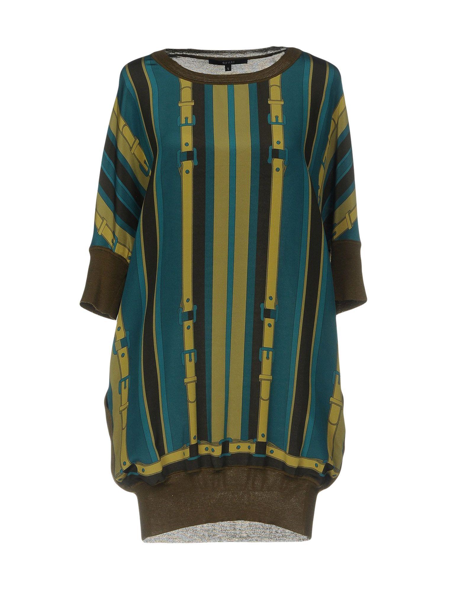 GUCCI Damen Kurzes Kleid Farbe Militärgrün Größe 4