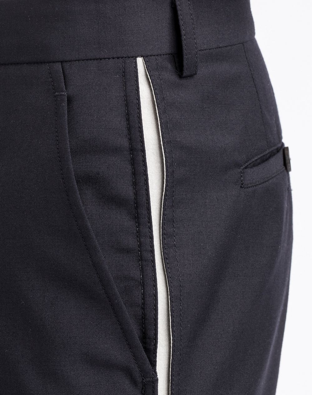 Pantalon slim bande contrast e c t lanvin pantalon homme - Pantalon bande laterale homme ...