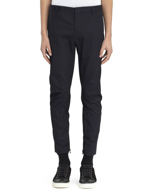 lanvin cotton gabardine biker trousers men